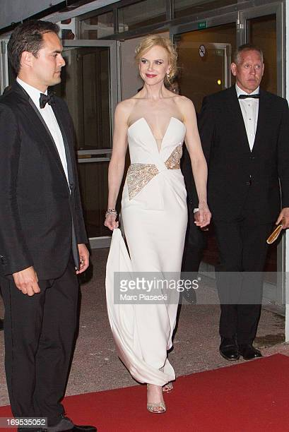 Actress Nicole Kidman arrives at the 'Agora' dinner during the 66th Annual Cannes Film Festival on May 26 2013 in Cannes France