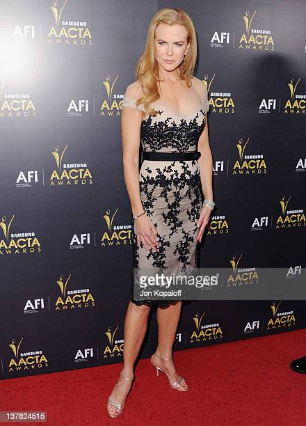 Actress Nicole Kidman arrives at the Australian Academy Of Cinema And Television Arts Awards at Soho House on January 27 2012 in West Hollywood...