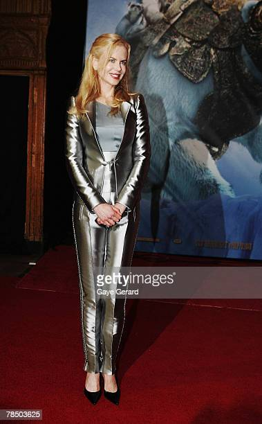 Actress Nicole Kidman arrives at the Australian Premiere of 'The Golden Compass' at the State Theatre on December 16 2007 in Sydney Australia