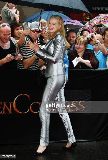 Actress Nicole Kidman arrives at the Australian Premiere of The Golden Compass at the State Theatre on December 16 2007 in Sydney Australia