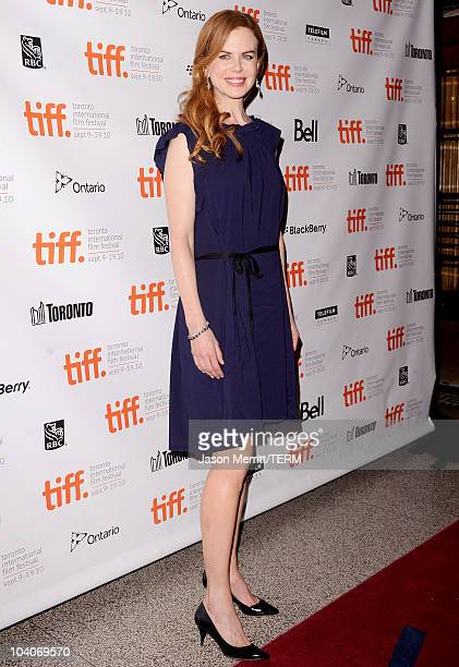 Actress Nicole Kidman arrives at the Rabbit Hole Premiere held at The Elgin during the 35th Toronto International Film Festival on September 13 2010...