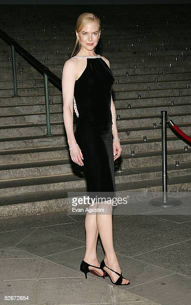 Actress Nicole Kidman arrives at the Vanity Fair party for the Tribeca Film Festival April 20, 2005 in New York City.