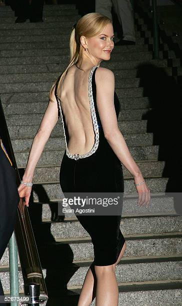 Actress Nicole Kidman arrives at the Vanity Fair party for the Tribeca Film Festival April 20 2005 in New York City