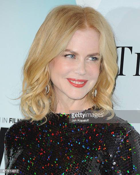 Actress Nicole Kidman arrives at Women In Film 2015 Crystal Lucy Awards at the Hyatt Regency Century Plaza on June 16 2015 in Los Angeles California