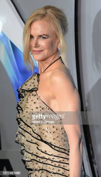 """Actress Nicole Kidman arrives for the Premiere Of Warner Bros. Pictures' """"Aquaman"""" held at TCL Chinese Theatre on December 12, 2018 in Hollywood,..."""