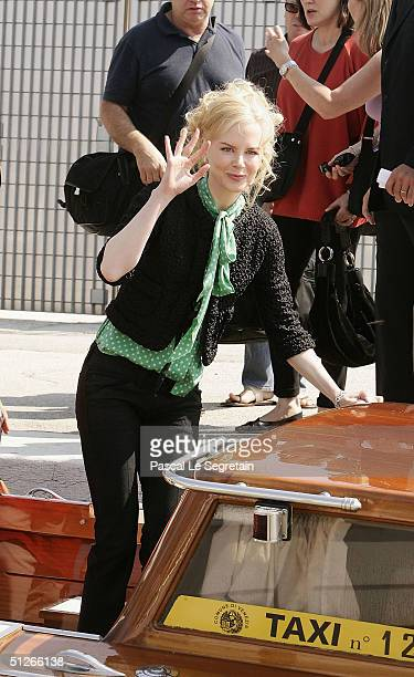 Actress Nicole Kidman arrives in Venice to attend the 61st Venice Film Festival on September 6, 2004 in Venice, Italy.