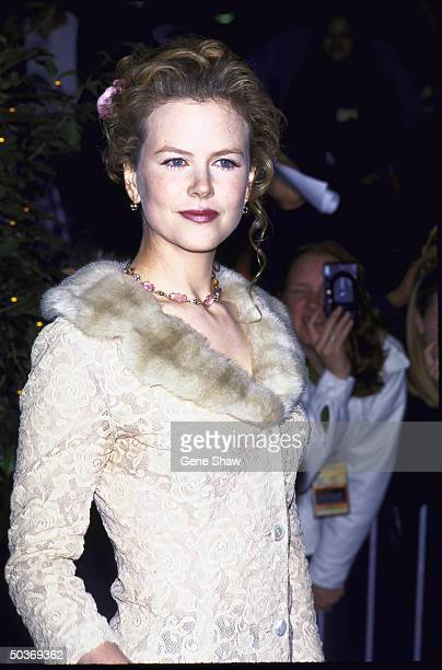 Actress Nicole Kidman at the film premiere of Jerry Maguire