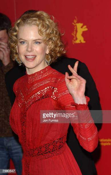 Actress Nicole Kidman at the photo call for her new film The Hours held on February 9 2003 at the Berlin Film Festival in Berlin Germany