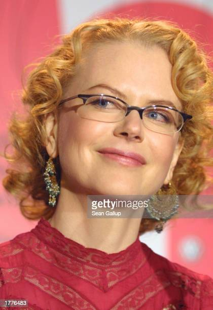 Actress Nicole Kidman attends a media conference at the Berlinale Film Festival February 9 2003 in Berlin Germany Kidman was nominated February 11...