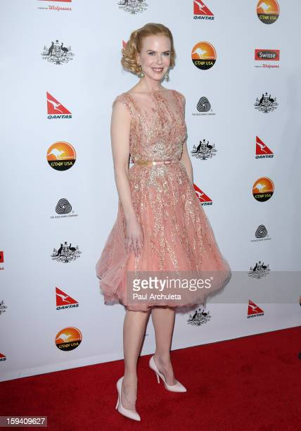 Actress Nicole Kidman attends the 2013 G'Day USA Los Angeles Black Tie Gala at JW Marriott Los Angeles at LA LIVE on January 12 2013 in Los Angeles...