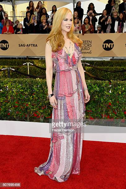 Actress Nicole Kidman attends the 22nd Annual Screen Actors Guild Awards at The Shrine Auditorium on January 30 2016 in Los Angeles California