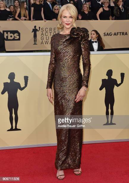 Actress Nicole Kidman attends the 24th Annual Screen Actors Guild Awards at The Shrine Auditorium on January 21 2018 in Los Angeles California
