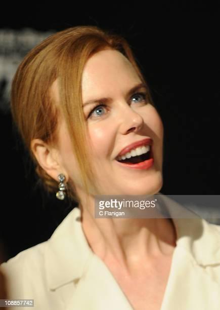 Actress Nicole Kidman attends the 26th Annual Santa Barbara International Film Festival Cinema Vanguard Award Tribute To Nicole Kidman at Arlington...