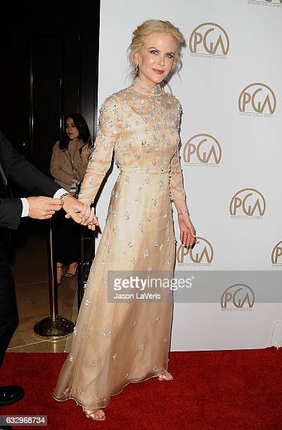 Actress Nicole Kidman attends the 28th annual Producers Guild Awards at The Beverly Hilton Hotel on January 28 2017 in Beverly Hills California