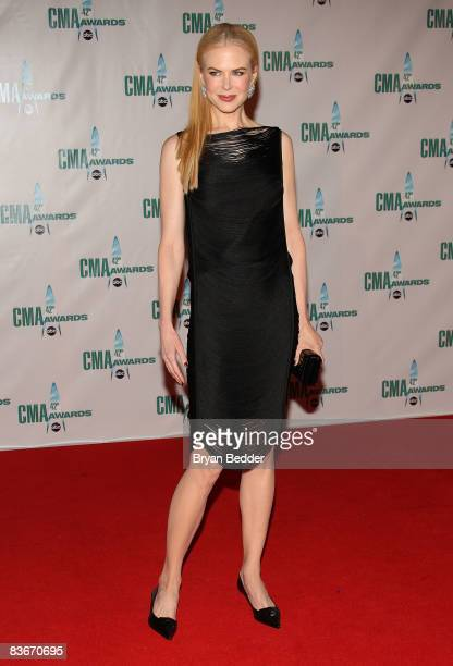 Actress Nicole Kidman attends the 42nd Annual CMA Awards at the Sommet Center on November 12 2008 in Nashville Tennessee