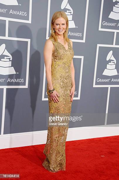 Actress Nicole Kidman attends the 55th Annual GRAMMY Awards at STAPLES Center on February 10 2013 in Los Angeles California