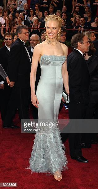 Actress Nicole Kidman attends the 76th Annual Academy Awards at the Kodak Theater on February 29 2004 in Hollywood California