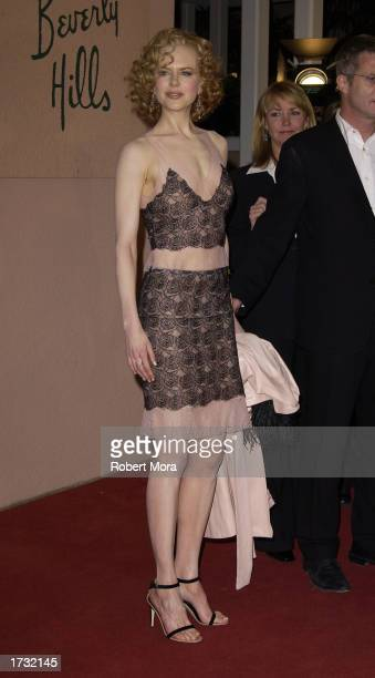 Actress Nicole Kidman attends the 8th Annual Critics' Choice Awards at the Beverly Hills Hotel on January 17 2003 in Beverly Hills California The...