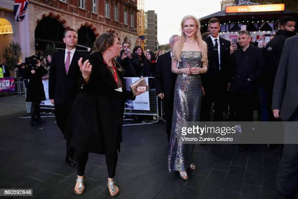 Actress Nicole Kidman attends the Headline Gala Screening UK Premiere of Killing of a Sacred Deer during the 61st BFI London Film Festival on October...