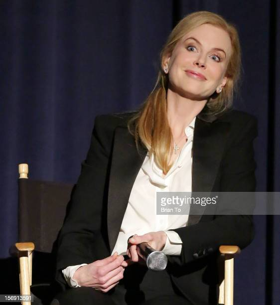 Actress Nicole Kidman attends 'The Paperboy' QA with Nicole Kidman at Harmony Gold Theatre on November 24 2012 in Los Angeles California