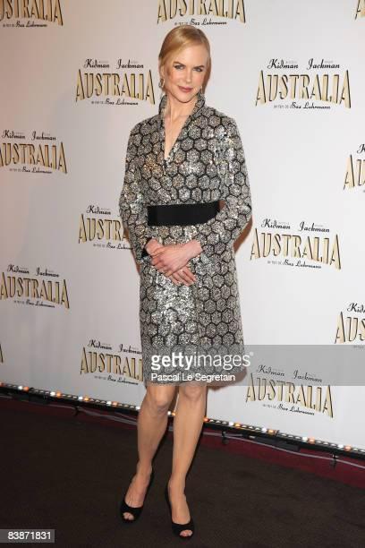 Actress Nicole Kidman attends the Paris Premiere of Australia at the Gaumont Marignan cinema on December 1 2008 in Paris France