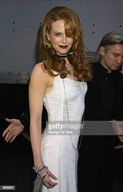 """Actress Nicole Kidman attends the premiere of """"Moulin Rouge"""" April 17, 2001 at the Paris Theatre in New York City."""