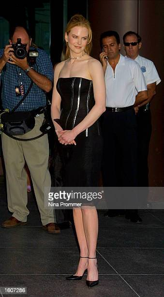 Actress Nicole Kidman attends the premiere of The Others August 7 2001 at the Directors Guild of America in Los Angeles CA