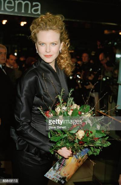 Actress Nicole Kidman attends the premiere of 'The Portrait of a Lady' at the Lumiere Cinema in London 20th February 1997