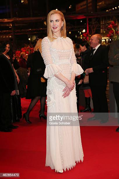 Actress Nicole Kidman attends the 'Queen of the Desert' premiere during the 65th Berlinale International Film Festival at Berlinale Palace on...