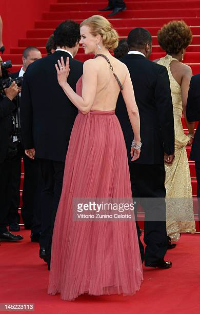 Actress Nicole Kidman attends the 'The Paperboy' premiere during the 65th Annual Cannes Film Festival at Palais des Festivals on May 24 2012 in...