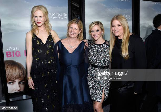 Actress Nicole Kidman author Liane Moriarty actress Reese Witherspoon and executive producer Bruna Papandrea attend the premiere of HBO's 'Big Little...