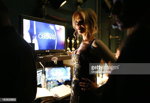 Actress Nicole Kidman backstage during the Oscars held at the Dolby Theatre on February 24 2013 in Hollywood California