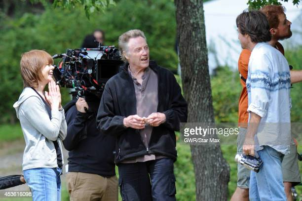 Actress Nicole Kidman Christopher Walken and Jason Bateman are seen on the set of 'The Family Fang' in Harriman Park on August 14 2014 in Upstate New...