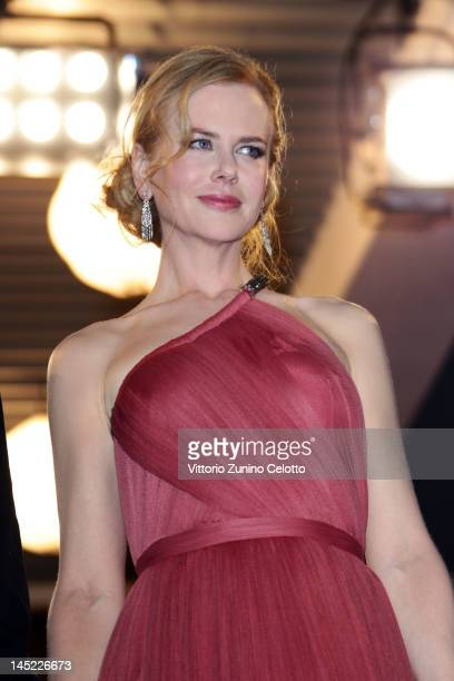 Actress Nicole Kidman departs the 'The Paperboy' premiere during the 65th Annual Cannes Film Festival at Palais des Festivals on May 24 2012 in...
