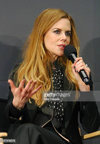 Actress Nicole Kidman discusses the new film 'Rabbit Hole' at the Apple Store Soho on December 3 2010 in New York City