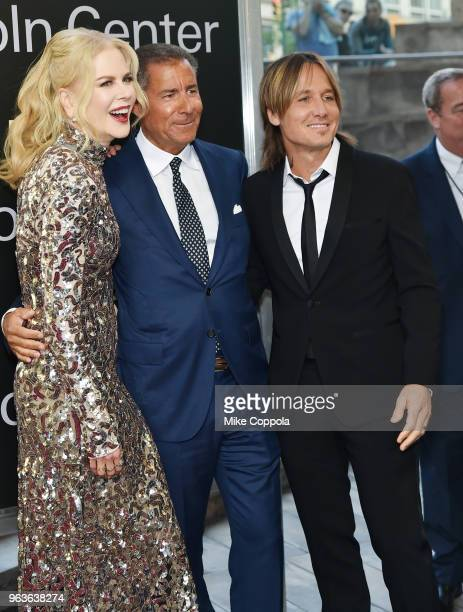 Actress Nicole Kidman gala honoree Richard Plepler and singersongwriter Keith Urban attend Lincoln Center's American Songbook Gala at Alice Tully...