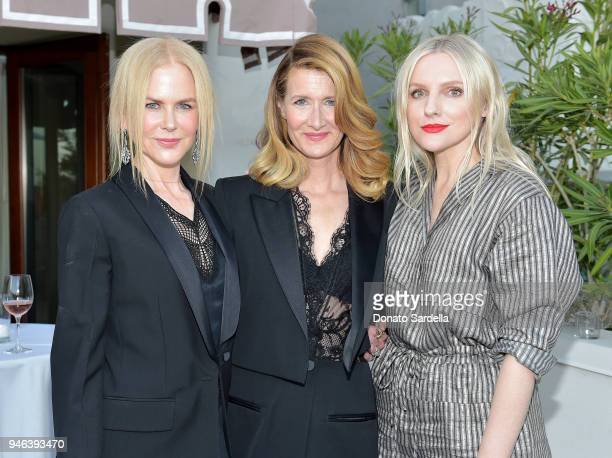 Actress Nicole Kidman host Laura Dern and InStyle Editor in Chief Laura Brown attend InStyle and Brahmin's Badass Women Dinner on April 14 2018 in...