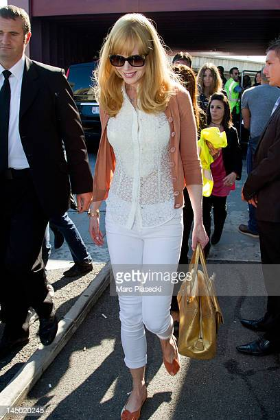 Actress Nicole Kidman is seen at Nice airport on May 22 2012 in Nice France