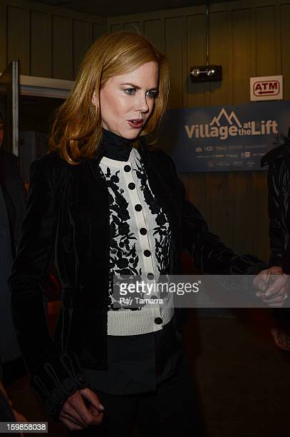 Actress Nicole Kidman leaves the Los Angeles Times portrait studio on January 21 2013 in Park City Utah