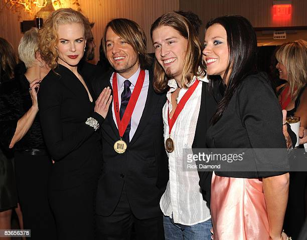 Actress Nicole Kidman musicians Keith Urban Jason Michael Caroll and guest and attend the 56th Annual BMI Country Awards at The BMI Building on...