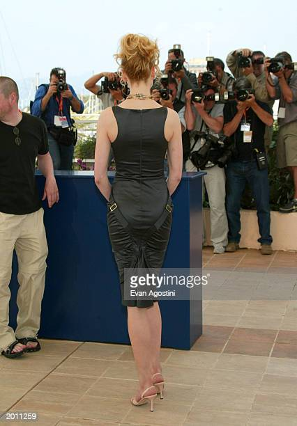 Actress Nicole Kidman poses during the 'Dogville' photocall at the Palais Des Festival during 56th International Cannes Film Festival 2003 on May 19...