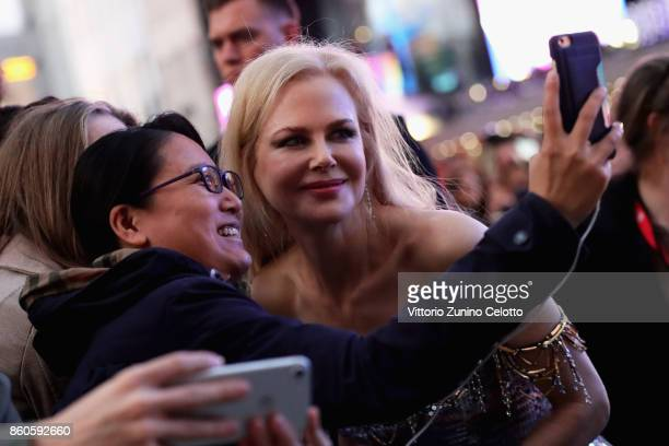 Actress Nicole Kidman poses for photographs as she attends the Headline Gala Screening UK Premiere of 'Killing of a Sacred Deer' during the 61st BFI...