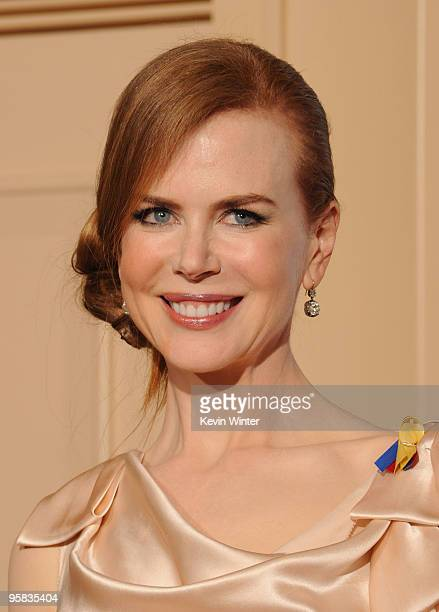 Actress Nicole Kidman poses in the press room at the 67th Annual Golden Globe Awards held at The Beverly Hilton Hotel on January 17, 2010 in Beverly...