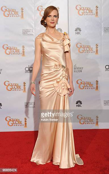 Actress Nicole Kidman poses in the press room at the 67th Annual Golden Globe Awards held at The Beverly Hilton Hotel on January 17 2010 in Beverly...