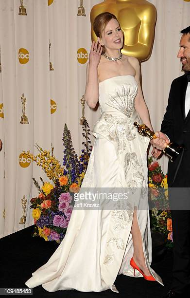 Actress Nicole Kidman poses in the press room during the 83rd Annual Academy Awards held at the Kodak Theatre on February 27 2011 in Los Angeles...