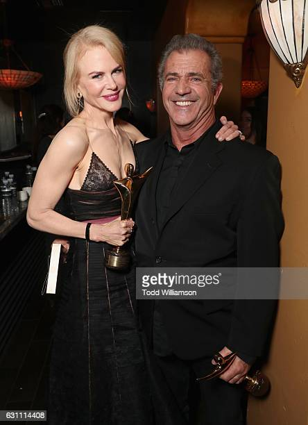Actress Nicole Kidman recipient of the award for Best Supporting Actress for Lion and director Mel Gibson recipient of the award for Best Direction...