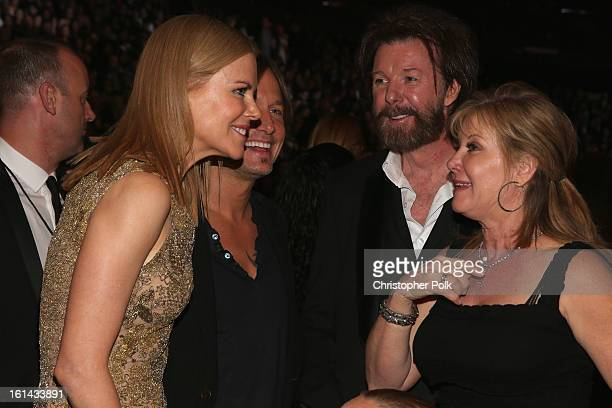 Actress Nicole Kidman singer Keith Urban singer Ronnie Dunn and Janine Dunn attend the 55th Annual GRAMMY Awards at STAPLES Center on February 10...