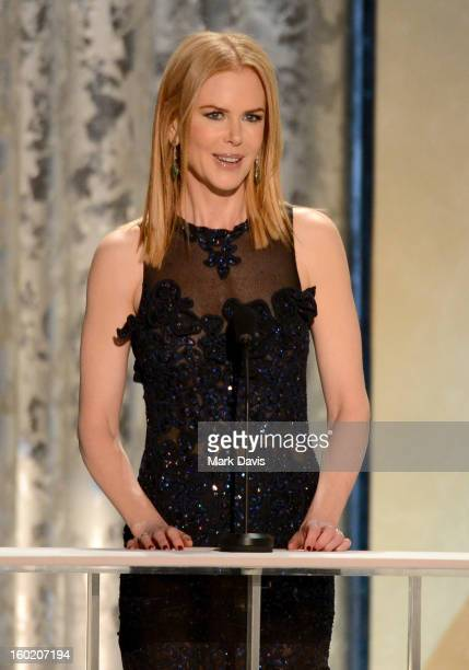 Actress Nicole Kidman speaks onstage during the 19th Annual Screen Actors Guild Awards held at The Shrine Auditorium on January 27 2013 in Los...