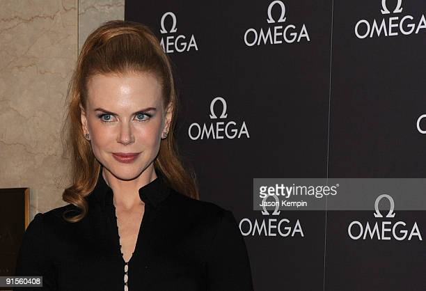 Actress Nicole Kidman visits the OMEGA flagship boutique on October 7 2009 in New York City