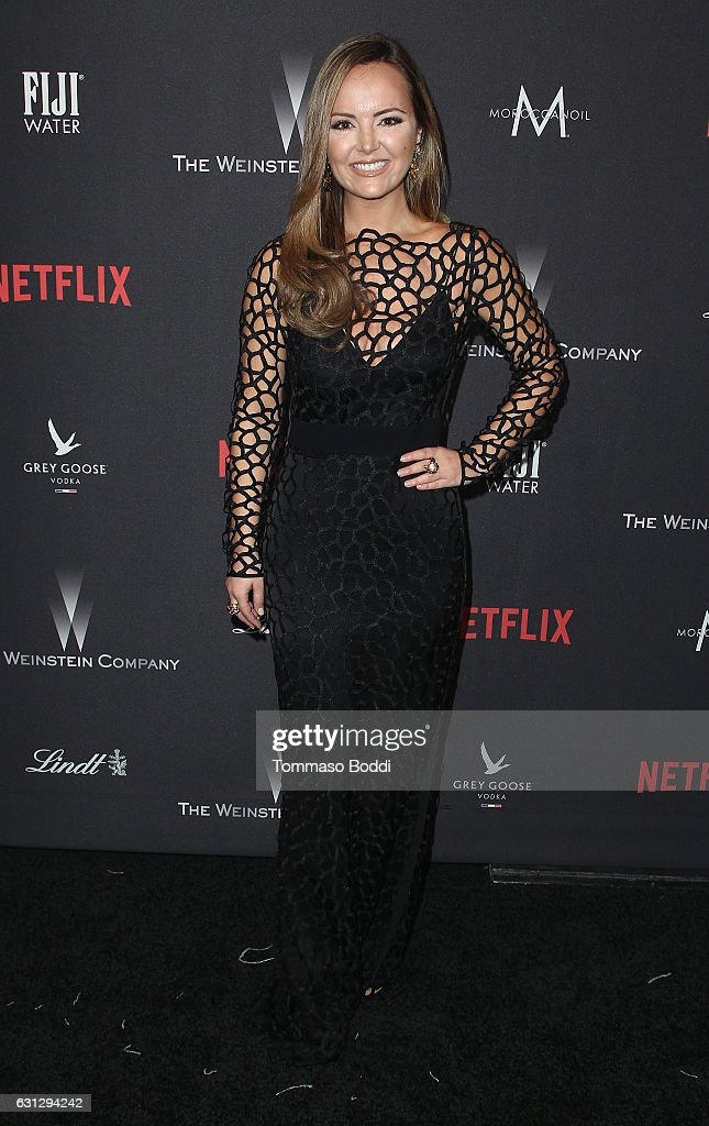 Actress Nicole Lapin attends The Weinstein Company and Netflix Golden Globe Party, presented with FIJI Water, Grey Goose Vodka, Lindt Chocolate, and Moroccanoil at The Beverly Hilton Hotel on January 8, 2017 in Beverly Hills, California.